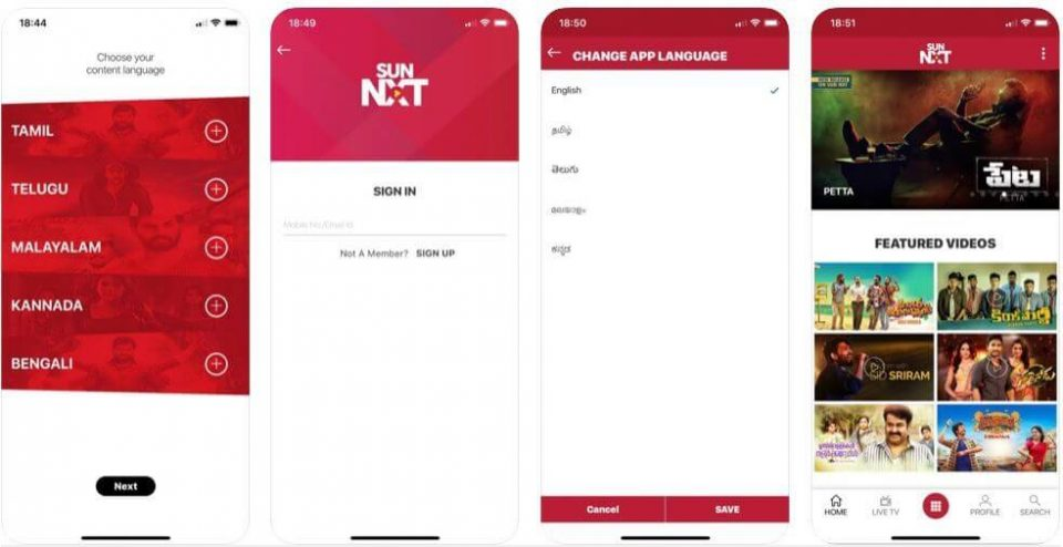 Sun Nxt Coupon Codes