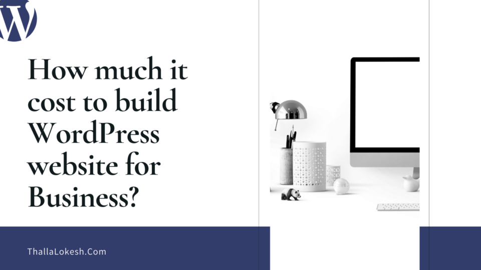 How much cost to build a simple WordPress website for small business