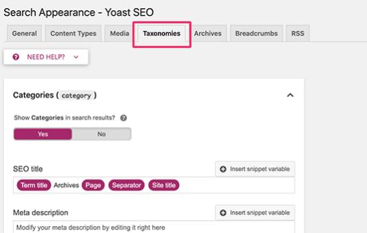 WordPress SEO by Yoast - plugin setup 2020